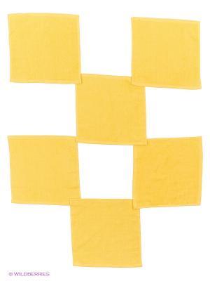 Набор полотенец в корзине Полоски Miolla. Цвет: желтый