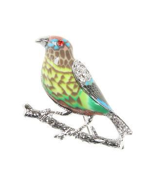 Брошь Infiniti. Цвет: серебристый, зеленый, голубой