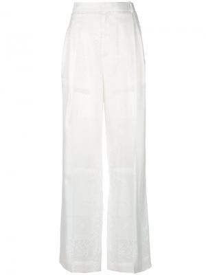 High waisted wide leg trousers Givenchy. Цвет: белый