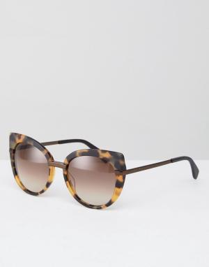 Marc By Jacobs Большие солнцезащитные очки кошачий глаз в черепаховой оправе. Цвет: коричневый