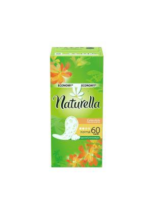 Ежедневные гигиенические прокладки на каждый день Calendula Tenderness Normal Trio, 60шт. NATURELLA. Цвет: салатовый