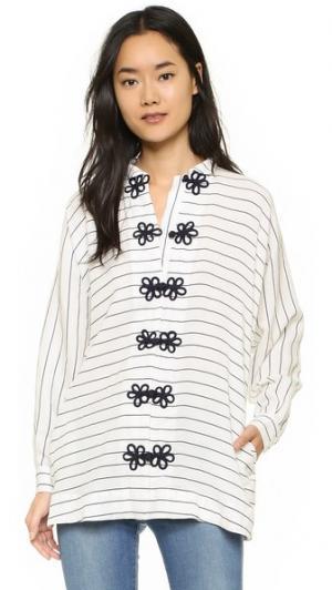 Полосатая блуза Angelina Koch. Цвет: морские полоски