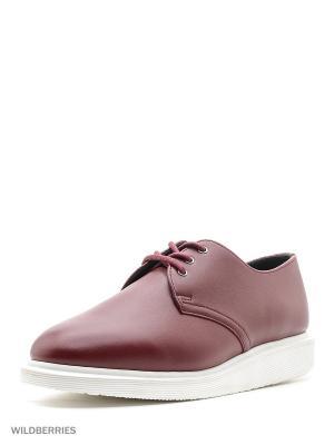 Ботинки Dr.Martens. Цвет: бордовый