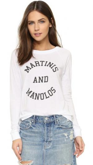 Рубашка с рукавами реглан Martinis & Manolos South Parade. Цвет: белый