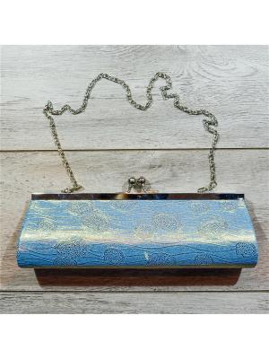 Клатч Bizon. Цвет: голубой