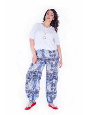 Брюки Darissa Fashion. Цвет: синий, белый, серый