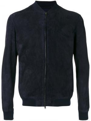 Куртка бомбер Salvatore Santoro. Цвет: синий