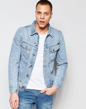 Nudie Jeans Джинсовая куртка Billy Trucker. Цвет: синий
