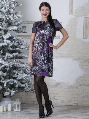 Платье MARY MEA. Цвет: фиолетовый, черный, коричневый