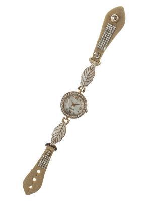 Браслет-часы Migura. Цвет: бежевый, золотистый, белый