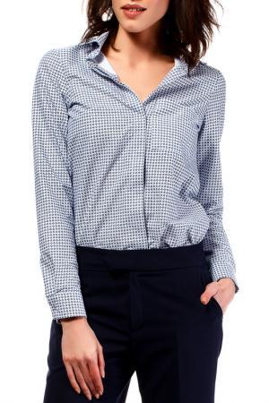 Рубашка BeWear. Цвет: синий