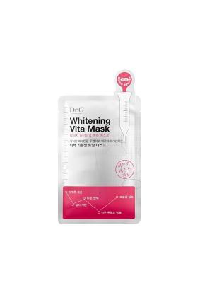 Витаминная тканевая маска осветляющая Whitening Vita Mask, 25мл, (10шт в упаковке) Dr.G. Цвет: белый