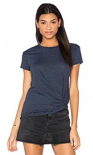 Полосатая футболка с переплетом Stateside. Цвет: синий