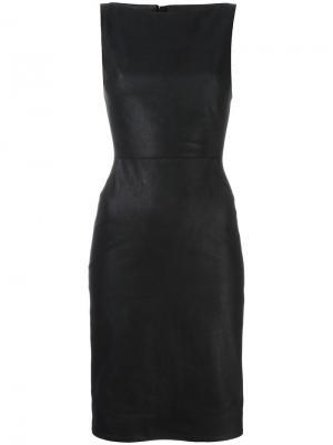 Узкое кожаное платье Gareth Pugh. Цвет: чёрный