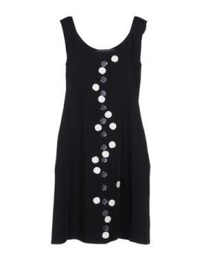 Короткое платье MARIA CALDERARA. Цвет: черный