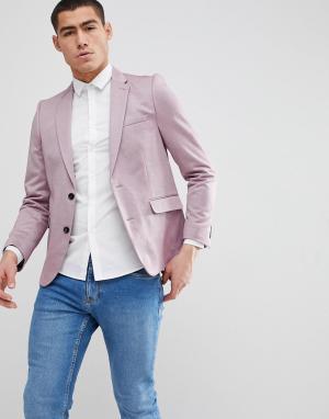 Burton Menswear Зауженный розовый блейзер. Цвет: розовый