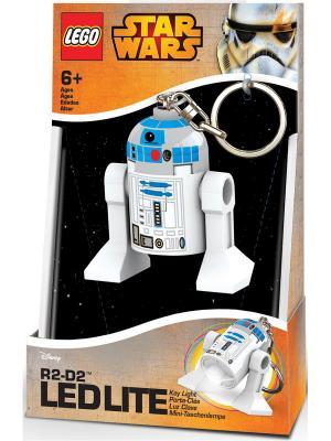 Брелок-фонарик для ключей LEGO Star Wars - R2-D2. Цвет: голубой, белый