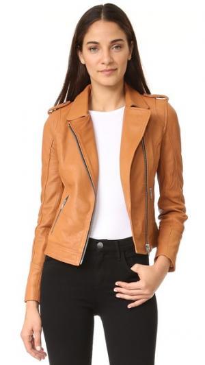 Байкерская куртка Doma. Цвет: верблюжий