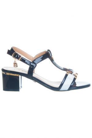 High heels sandals Laura Biagiotti. Цвет: black, white