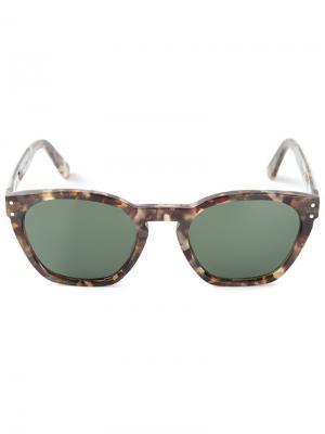 Солнцезащитные очки с узором черепашьего панциря Ahlem. Цвет: серый