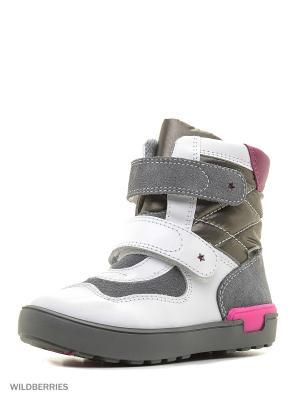 Ботинки Bartek. Цвет: белый, светло-серый
