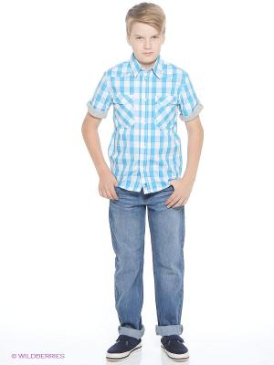 Рубашка Young Reporter. Цвет: голубой
