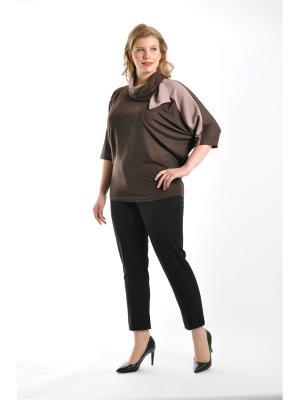 Блузка Forus. Цвет: коричневый, темно-бежевый