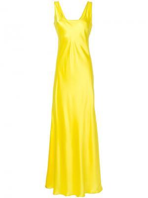 Вечернее платье Alberta Ferretti. Цвет: жёлтый и оранжевый