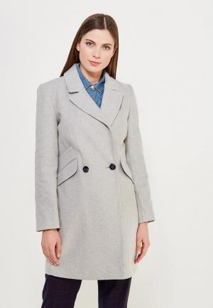 Пальто Miss Selfridge. Цвет: серый