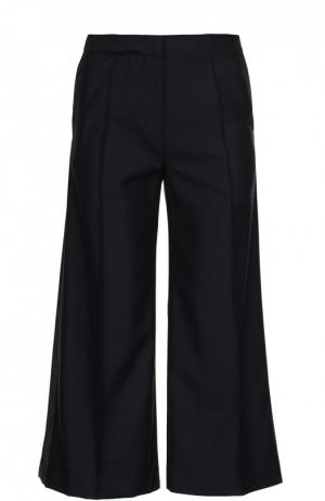 Широкие брюки с лампасами и врезными карманами Racil. Цвет: черный