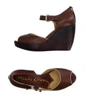 Сандалии MANILA GRACE. Цвет: коричневый