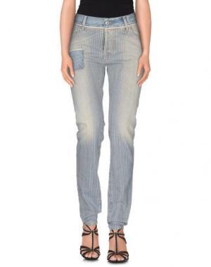 Джинсовые брюки-капри MAURIZIO MASSIMINO. Цвет: синий