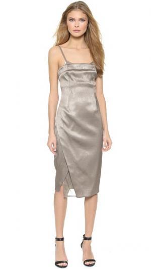 Платье-комбинация KEMPNER. Цвет: ртуть/дымчатый