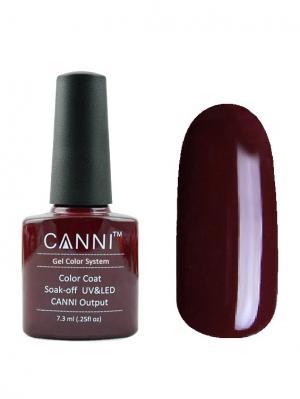 Гель лак №166 CANNI. Цвет: темно-коричневый