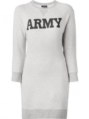 Длинная толстовка Army Nlst. Цвет: телесный