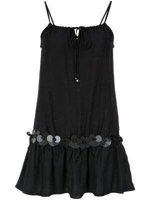 Embellished straight dress Amir Slama. Цвет: чёрный