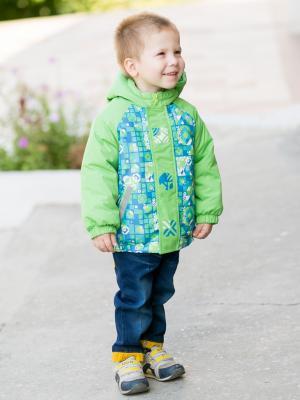 Куртка артур Аксарт. Цвет: лазурный, зеленый