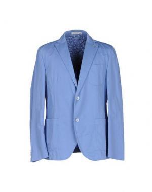 Пиджак MANUEL RITZ WHITE. Цвет: лазурный