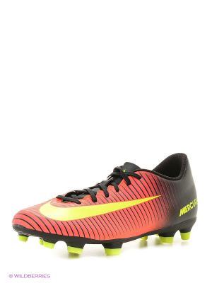 Бутсы MERCURIAL VORTEX III FG Nike. Цвет: оранжевый