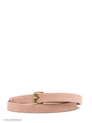 Ремень Sisley. Цвет: бледно-розовый, темно-бежевый
