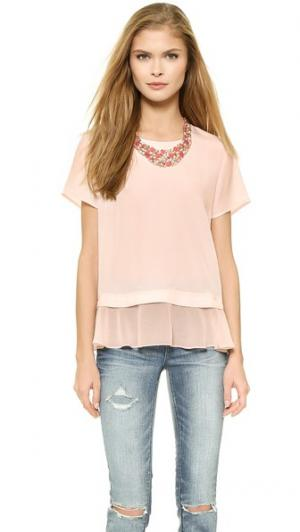 Многослойная футболка Delilah Madison Marcus. Цвет: розовый