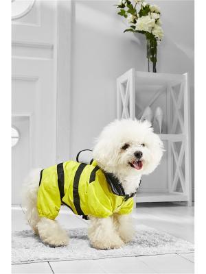 Дождевик Пчелка Майя для маленьких пород собак весом 4-8 кг и длиной спинки около 35 см Nothing but Love. Цвет: желтый, черный