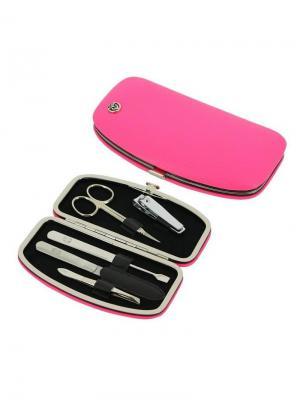 Маникюрный набор 5 предметов GD. Цвет: розовый