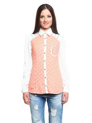 Блузка TOPSANDTOPS. Цвет: персиковый
