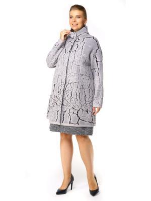 Пальто SHE'SSO. Цвет: серый