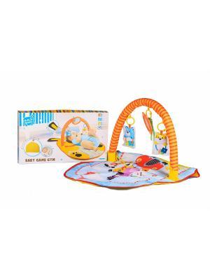 Коврик для малышей S-S. Цвет: оранжевый, голубой