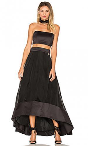 Вечернее платье monaco Bronx and Banco. Цвет: черный
