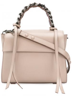 Маленькая сумка-тоут Angel Elena Ghisellini. Цвет: телесный