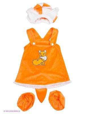 Карнавальный костюм Лисичка Батик. Цвет: оранжевый