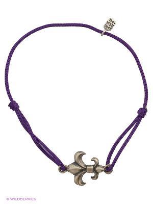 Королевская лилия, браслет Amorem. Цвет: серебристый, фиолетовый